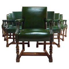 Howard & Sons Armchairs Set of Eleven Boardroom Dining Library Gainsborough