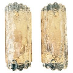 ORREFORS GLASS WALL SCONCES