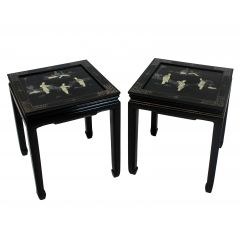 A Pair Of Japanned Side Tables
