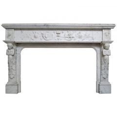 Renaissance Style Marble Fireplace