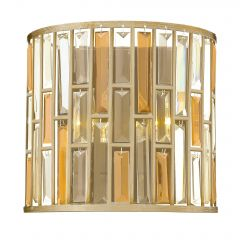 Silver Leaf Wall Light with Coloured Prisms