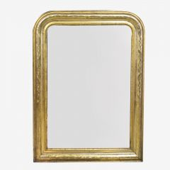 Mirror with Floral Etchings
