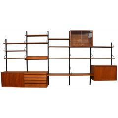 Large Poul Cadovius Royal Series Wall Unit in Teak, Denmark, 1950