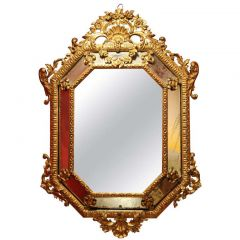 1865 Italian Diamond Shaped Mirror