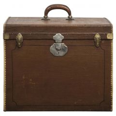 Cube Shaped Vintage Trunk