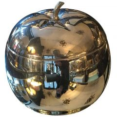 1960s Large Chrome Apple Ice Bucket