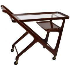 Cassina Mahogany Cocktail Trolley