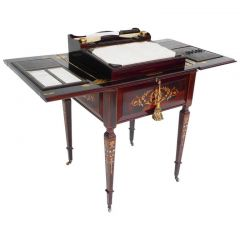 Victorian Rosewood & Marquetry Writing Table
