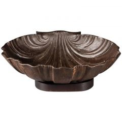 Massive Cast Iron Scallop Shell Attributed to the Val D'Osne Foundry