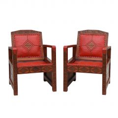 Pair Of Art Deco Moorish Armchairs C1930