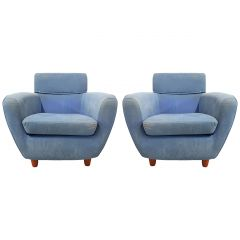 Pair of Ligne Roset Armchairs Vintage 20th Century to Recover