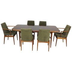 Midcentury Dining Table and Chairs by Robert Heritage