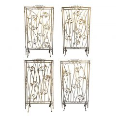 1950s Stunning Set Of 5 Screen Room Dividers