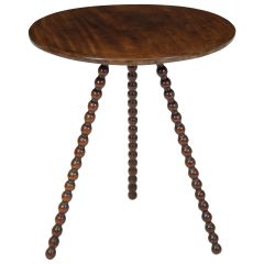English Bobbin Work Side Table