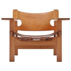 Spanish Oak Chair by Børge Mogensen for Fredericia