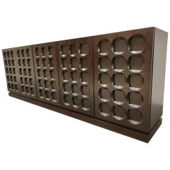 Graphical Brutalist Credenza, 1970s