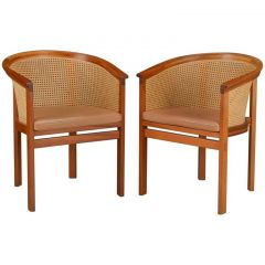 1980s Rud Thygesen and Johnny Sørensen Mahogany Model 7703 King Series Armchairs