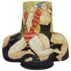 Large Studio Pottery Vase by Michael Kay One of a Kind Ceramic Center Piece