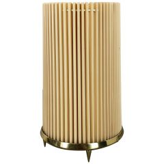 Original Modernist Huge Stilnovo Style Table Light with Brass Base, Italy, 1970s