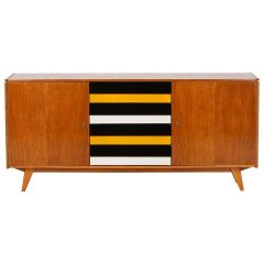 Model U-460 Striped Sideboard by Jiri Jiroutek for Interier Praha, 1960s