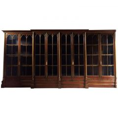 1820s George III Jappaned Lacquered Bookcase from Oxford College