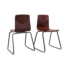Stackable S22 Industrial Pagwood Dining Chair from Galvanitas, 1970s
