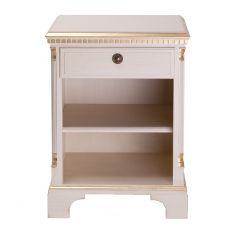 Gustavian Bedside Cabinet with Shelves
