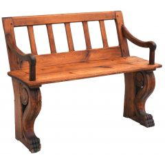 Antique Pine Bench 19Th Century France
