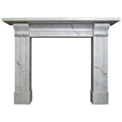 Late Regency Marble Fireplace