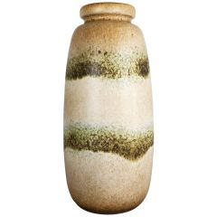 Large Pottery Fat Lava Multi-Color 284-47 Floor Vase Made by Scheurich, 1970s