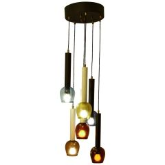 Coloured Drop Italian Pendant Chandelier