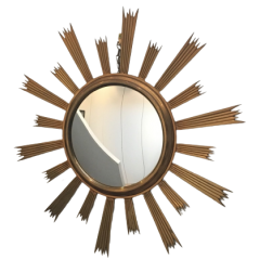 BEAUTIFUL GILT BRONZE SUNBURST MIRROR. 1960'S