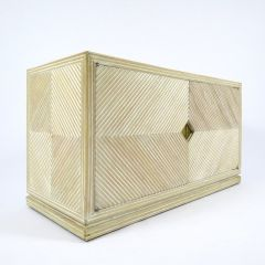 Bamboo Cabinet with Brass Details, 1970s