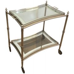 Neoclassical Style Silver Plated Drinks Trolley