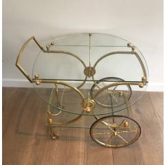 MAISON BAGUÉS BRASS AND GLASS DRINKS TROLLEY