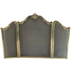 Louis the 15th Style Bronze Fireplace Screen