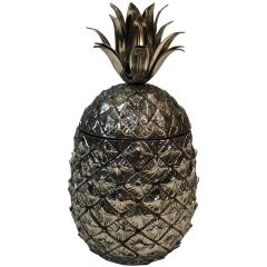 Silver Plated Pineapple Ice Bucket. Italy. 1970