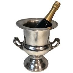 Silver Plated Champagne Bucket. French. Circa 1900