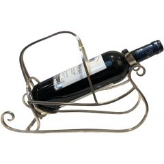 Silver Plated Sleigh Bottle Holder. French. 1930
