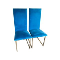 Willy Rizzo Gilt-Frame Dining Chairs