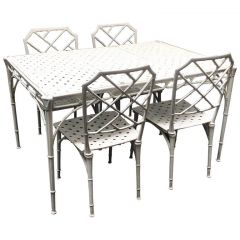 Chippendale Inspired Faux Bamboo Patio Set