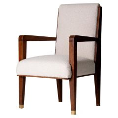 Modernist Mahogany Armchair by Maurice Jallot
