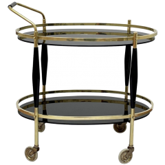 Brass and glass trolley