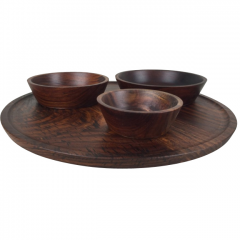 Seva Wooden Serving Bowl and Platter Set by Tiipoi