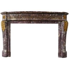 Louis XVI Style Marble Fireplace Mantel