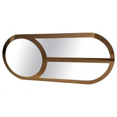 Mid-Century Modern Italian Oval Shaped Wall Mirror, 1970s