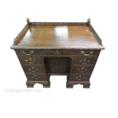Carved Chinese Chippendale Style Desk
