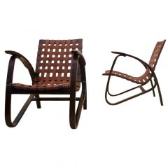 Stunning Pair of Bentwood Armchairs by Jan Vaněk for Up Zavodny, Czechoslovakia
