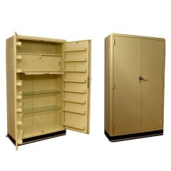 1930s Metal Pharmaceutical Cabinets