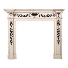 Statuary Marble and Scagliola Fire Surround after Pietro Bossi